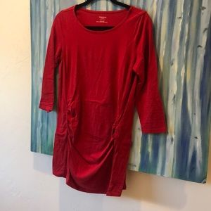 Red maternity top 3/4 sleeves